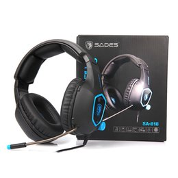 SADES SA818 Auricolari da gioco per computer PC Gamer Headset per PS4 new Xbox one Controller Laptop Cell Phone con Mic Bass Casque da