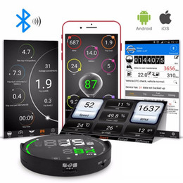 Carro hud bluetooth on-line-HUD V-CHEQUES Original V-CHECKER HUD Sistema Bluetooth Universal OBD HUD Sistema VCHECKER Head Up Display com Ferramenta de Diagnóstico TPMS Auto