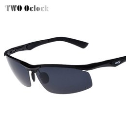 c8536b7c1e0 TWO Oclock Aluminium Magnesium Polarized Sunglasses Men Polaroid Sun Glasses  For Driver Male Fishing Glasses Outdoor Goggle 3009