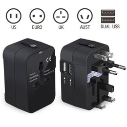 au dual port wall charger Coupons - Universal Travel Adapter All in One Power Converters Wall Charger AC Power Plug Adapter Dual USB Charging Ports US EU UK AU