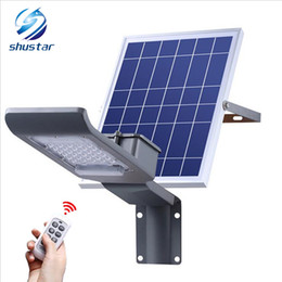 Wholesale Outdoor Lighting Control - 30W SMD3030 Outdoor Solar Light Solar Garden Light Solar Led Para Exterior Garden Sunlight Remote Control Dimming For The Path