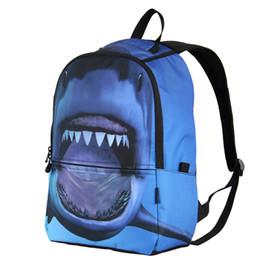 Canada Bleu 3D Shark Sac À Dos Hommes Rugzak Sac À Dos pour Le Sac À Dos Quotidien Feminina Ordinateur Portable Bagpack Sacs D'école pour Adolescent Garçons supplier back pack blue Offre