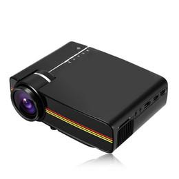 Tarjeta de video de puerto online-Proyector de video 1080p Proyector de video LED con puertos VGA / AV / HDMI / USB / SD con altavoz para cine en casa Cine Entretenimiento Juegos Fiesta