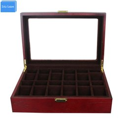 Wholesale Cushion Wood - Gift Luxury for Brand Watches Storage&Display Case 12 Grids Box Rose Wood Walnut Mahogany Box Storage Display Case Cushions