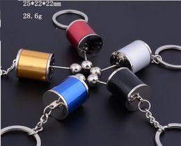 Wholesale gear rods - Keychain Key Ring Creative Metal Zinc Alloy Gear Shift Knob Rod 6-Speed Manual   Automotive Transmission Turbo Keyring Key J047