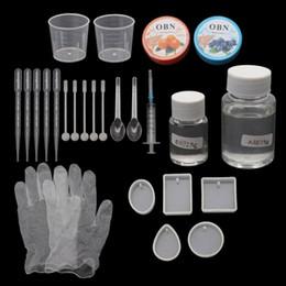 Stampi per ciondoli in resina epossidica fai-da-te Kit di strumenti per la creazione di gioielli necessari Resina AB colla da