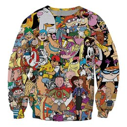 characters print sweatshirt Coupons - New Fashion Famous Cartoon Character Funny 3d Print Smoking Sweats Fashion Clothing Women Men Sweatshirt Casual Pullovers K90