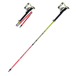 Прогулка онлайн-Ultra-light Folding Nordic Walking Poles Carbon Fiber s Trekking Stick Alpenstock Carbon Walking Sticks For Tourism