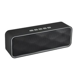Wholesale computer sound speakers - Hot SC211 Bluetooth speakers loud Portable Outdoor Sports Bass Wireless Speaker For Computer Subwoofer Stereo For Smartphones 1PC sale