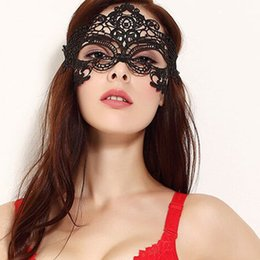 Wholesale lingerie mask - Sexy lace hollow mask goggles nightclub fashion queen female sex lingerie Cutout Eye Masks for Masquerade Party Mask