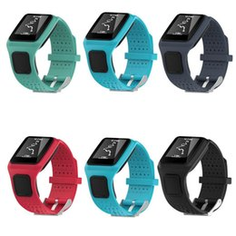 elenca le mele Sconti Cinturino in silicone di moda per cinturino per cinturino sostitutivo TomTom Multi-Sport + HRM / CSS / Cardio / GPS