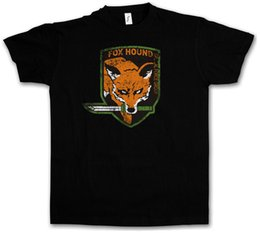 Metallo volpe online-T-SHIRT CON LOGO FOX HOUND GROUP - Metal Game Gear MGS Snake Eater PC Maglietta solida