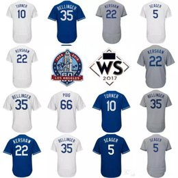 Wholesale Kershaw Jersey - 60TH Anniversary Patch Justin Turner 22 Clayton Kershaw 35 Cody Bellinger Corey Seager Matt Kemp Yasiel Puig Valenzuela Los Angeles Jerseys