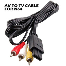 Wholesale n64 av - video games console cable 180cm AV TV RCA Video Cord Cable For Game cube For SNES GameCube for Nintendo for N64 64