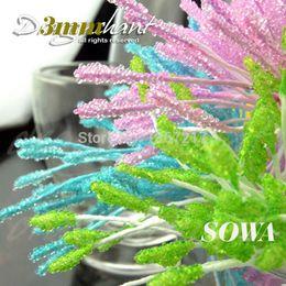 Wholesale Glass Picks - Free Shipping Hot Sales Size 3mm 850pcs Lot Artificial Pick Color Glass Flower Stamen Pistil Wedding Decoration Craft DIY