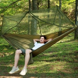 Wholesale Parachute Tents - Spring Autumn Outdoor Light Mosquito Net Hammock Parachute Cloth Field Camping Tent Garden Ca0mping Swing Hanging Bed Furniture