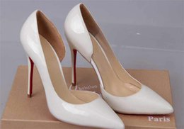 Wholesale free nudes high heels - Free Shipping So Kate Styles 8cm 10cm 12cm High Heels Shoes Red Bottom Nude Color Genuine Leather Point Toe Pumps Rubber 001