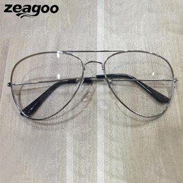 39af93470c3 2019 retro round glasses clear Zeagoo Vintage Glasses Frame Eye Unisex  Lente Clear Chic Alloy 2018