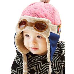 2019 freddi i ragazzi dei cappelli invernali Baby Winter Hat 4 Colori Toddlers Cool Baby Boy Girl Infant Winter Pilot Caldo Cap Hat Beanie da 10 a 48 mesi freddi i ragazzi dei cappelli invernali economici