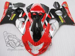 2020 kits corpo k5 K4 K5 Kits de carenagem PARA SUZUKI GSXR600 GSXR750 2004 2005 GSXR 600 750 GSX-R600 GSX-R750 04 05 carenagens de motocicleta vermelho preto BODY kits corpo k5 barato