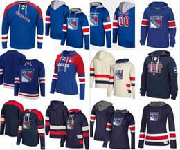 Guardabosques de nueva york online-Sudadera con capucha de los New York Rangers Ryan McDonagh Esteras Zuccarello Rick Nash Henrik Lundqvist Camiseta de hockey Chris Kreider cosida