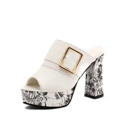 Wholesale super high platform wedges - Sandals And Slippers Women Platform Sandals Women's High-heeled Wedges Platform Shoes Thick Heel Shoes Woman 2554