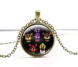 Wholesale Tile Necklaces - 2018 .Free Shipping Hot Jewelry distributor 5 Five Nights at Freddy's FREDDY FAZBEAR Scrabble Tile Antique bronze Necklace EXL438