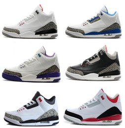 Wholesale Advanced Ups - 2018 shoes 3 white black cement infrared 23 basketball shoes sneakers for men designer 2017 GS wolf grey Advanced Quality Version size 8-13