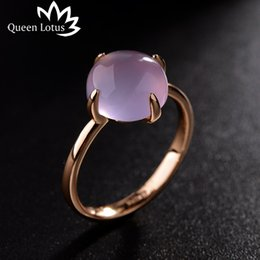 Wholesale Lady Ring Green Stone - whole saleQueen Lotus 2017 new Korean simple fashion ring Cat eye stone personality silver Gold rings women High quality ladies jewelry