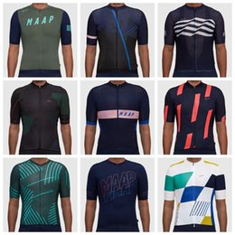 Wholesale Cycling Jersey Woman Red - 2018 MAAP Short Sleeves Cycling Jerseys Summer Style For Men Women Bike Tops MTB Ropa Millot Size XS-4XL Bicycle Wear