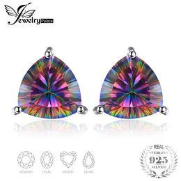 Jewelrypalace arco-íris clássico místico topázio genuíno 925 brincos de prata esterlina para mulheres jóias finas moda vintage de