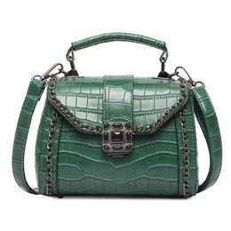 69dfcfe291 Borse di lusso Borse a tracolla in alligatore per donna Borsa in pelle PU  per donna 2018 Borsa a mano piccola borsa di stoffa verde