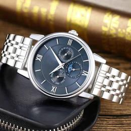 Subdials Work AAA Мужские женщины High-end Staiss Steel QrtzfassНаручные часы Секундомер Роскошные часы Лучшие бренды для мужчин cheap high end mens watches от Поставщики мужские наручные часы