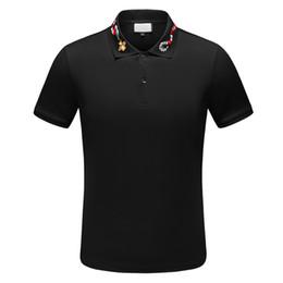 Polos de grife para homens on-line-Marca de moda designer polos homens camisa Casual t Camisa de Algodão Bordado Medusa polo colar de rua de Luxo camisas Polos