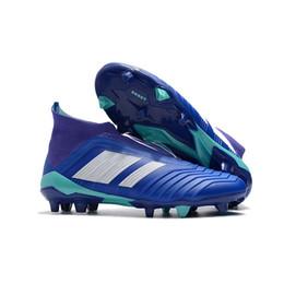 Carregadores de futebol on-line-VENDA QUENTE Predator 18 + 18.1 FG Futebol Chuteiras Chaussures Botas de Futebol Mens Designer Sports Running Shoes para Homens Sapatilhas Formadores Casuais