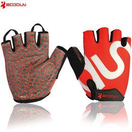 Wholesale Women S Slips - BOODUN cycling gym gloves men women body building dumbbell fitness gloves half finger anti slip weight lifting sport training bowling