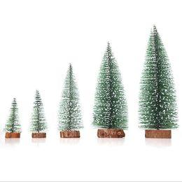 hot mini christmas tree snowflakes artificial christmas mini cedar ornaments festival table miniature ornament home decoration