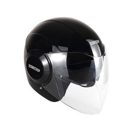 women motorcycle half helmet Coupons - Cycling Motorcycle helmet safety hat warm men and women autumn and winter cold half-covered double lens half helmet protection