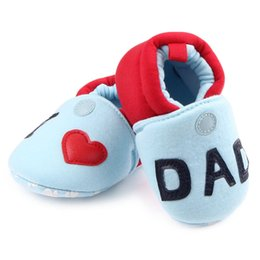 Wholesale Baby Home Shoes - Baby Girl Shoes for Boy Crib Shoe Slip On Newborn First Walkers Infant slippers Home Footwear Baby Gear Necessities Shower Gifts