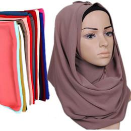 Wholesale ladies fur ponchos - brand Pearl chiffon women LIC shawl scarf arabic Female muslim Headhand hijab ladies poncho Stole cape bubble chiffon bandana