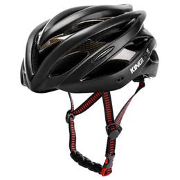 велосипедный шлем mtb Скидка KINGBIKE bicycle helmets CE light helmet cycling road black Integrally-moled helmet cycling mtb Insect Net helmets road