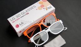 Wholesale Universal Cinema - Free shipping 2pcs set 3D polarized glasses fit for LG AG-F200 no flash Universal 3D cinema RealD TV