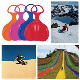 Wholesale Ski Sled - 5 Colors Snow Board Skiing Christmas Winter Snowboard Adult Kids Ski Sled Skiing Sleigh Grass Sand Outdoor Sport