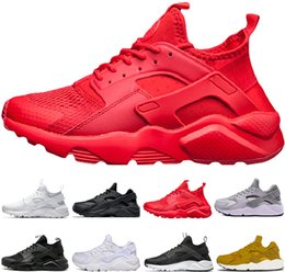 2019 novos homens negros ar huarache nike shoes Air Huarache 1.0 4.0 Ultra Running Shoes Para Mulheres Dos Homens, Mulher Mens Preto Branco Air Huaraches Sports Sneakers Athletic Trainers novo designer novos homens negros ar huarache barato