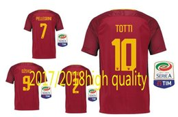 Wholesale Red Issues - 2017 LIMITED EDITION Player Issue Romas soccer jersey TOTTI rome football shirt 17 18 maillot de foot Dzeko Nainggolan Perotti De Rossi