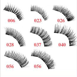 Wholesale Natural Hair Designs - Three Magnetic Eyelash Thick 8 Designs Full Strip Lashes Magnet Natural Beauty No Glue Reusable Hand Made False Eyelashes