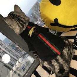 Perro de lujo sudaderas con capucha Tide Brand Cute Teddy Puppy Schnauzer Ropa Otoño Invierno Cálido Outwears Little Bee Suéter Ropa desde fabricantes