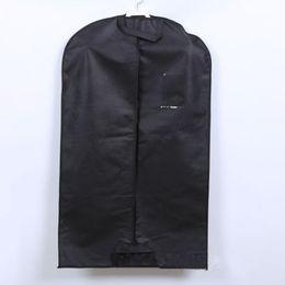 Wholesale Clothes Hanger Covers - New Suit Coat Dress Storage Garment Carrier Bag Travel Cover Hanger Protector Nonwoven Suit Coat Dustproof Clothing Cover