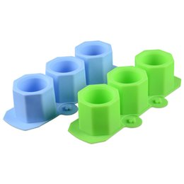 Wholesale Icing Molds - Wholesales 22*9.2*4.7cm Food Grade Silicone Ice Cube Molds Wine Cups Shaped DIY Ice Cream Maker