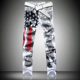 Erkekler Rahat Amerikan ABD Bayrağı Baskılı Kot Pantolon Mens Graffiti Baskı Beyaz Hip-Hop Moda Jean Slim Fit Pantolon, 8231 nereden